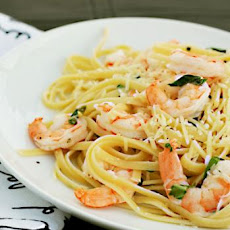 Lemon Shrimp With Pasta and Basil