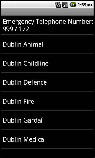 Irish Emergency Numbers