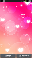 Screenshot of Pink Heart Live Wallpaper