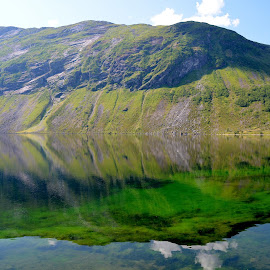 Clear water in the mountain by Fred Øie - Landscapes Waterscapes ( mirror, water, mountain, nature )