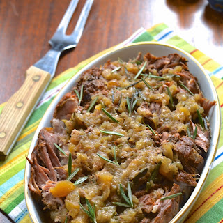 Slow Cooker Apple Rosemary Pork Roast (SCD, GAPS, AIP, WAPF)