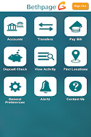 Screenshot of Bethpage Mobile Banking
