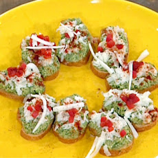 Green Olive Paste on Crostinis