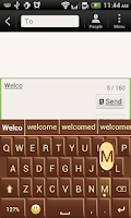 Screenshot of Swipe Chocolate Keyboard