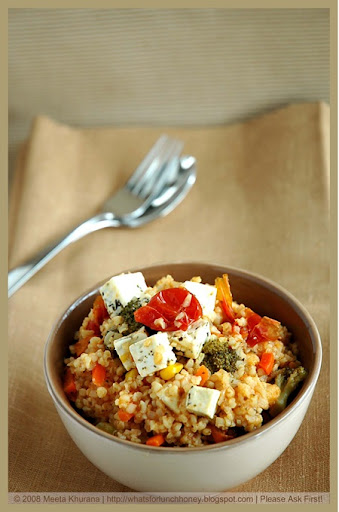 Bulgur rice lamb