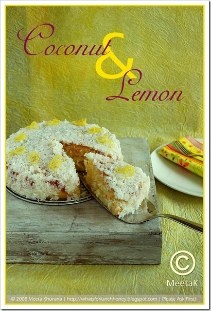 Coconut Lemon Cake (01) by MeetaK