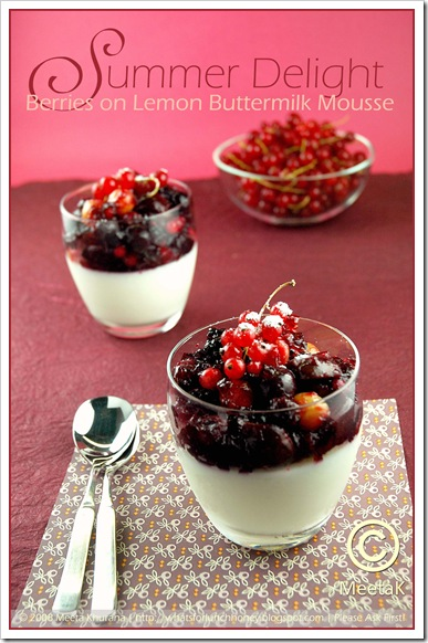 Berries Lemon Buttermilk Mousse (01) by MeetaK