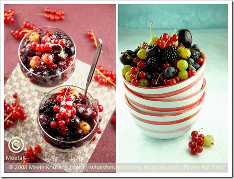 Berry Lemon Buttermilk Mousse Diptych by MeetaK