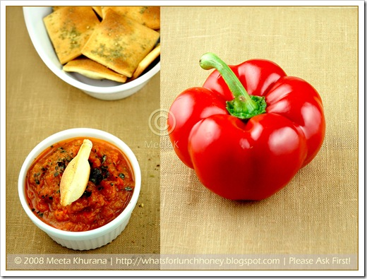 Lavash Ajvar Pepper Diptych (01) by MeetaK