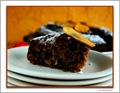 Persimmon Spice Cake - Slice