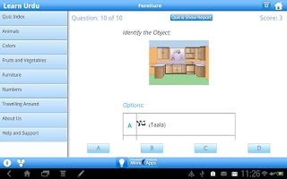 Screenshot of Learn Urdu