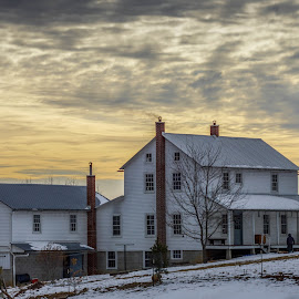 Amish Sunset by Aaron Grape-nuts - Buildings & Architecture Homes ( amish, home, sunset, house, country )