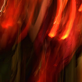 From the Depths of Hell by Patti (George) Larcher - Abstract Light Painting ( abstract, flames, red, light painting, photography )