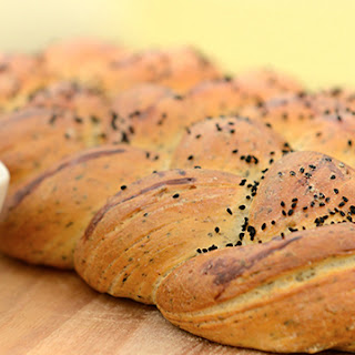 Nancy's Dukkah and Macadamia Plaited Loaf