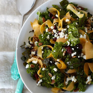 Kale, Swiss Chard, and Butternut Squash Salad