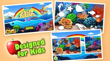 Screenshot of Kids Jigsaw Puzzles Ocean HD