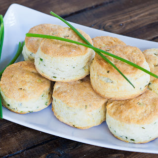 Chives and Cream Cheese Biscuits