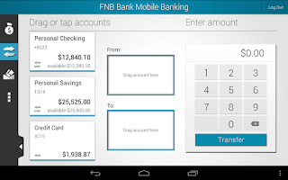 Screenshot of FNB Bank Mobile Banking