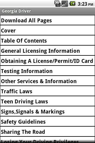 Georgia Driver Handbook