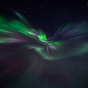 Aurora corona by Benny Høynes - Abstract Patterns ( canon, corona, colors, aurora, norway )