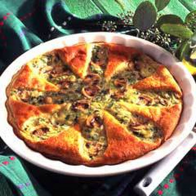 Pinwheel Cheese Quiche