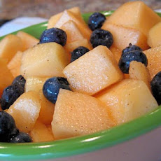 Honeyed Cantaloupe With Blueberries