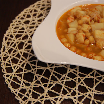 Chickpeas with Shrimp and Cuttlefish