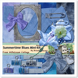 summertime blues folder  kit preview