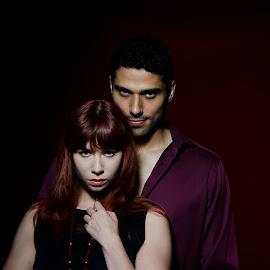 Attitude by Alda Sykes - People Couples ( studio, models, lighting, woman, couple, man )