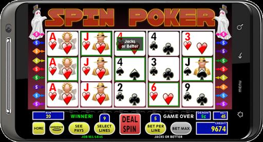 Spin Poker - screenshot