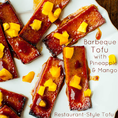 Korean Barbeque Tofu with Pineapple and Mango (vegan, gluten-free)