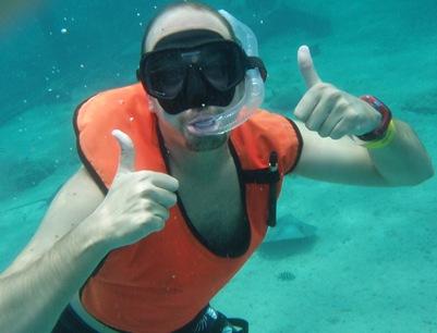 Nadar com raias! É a loucura!!! E adoro a minha câmara!