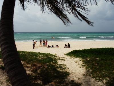 Zona de aterragem em Playa Del Carmen... vida dura a de um enfermeiro nas Caraíbas
