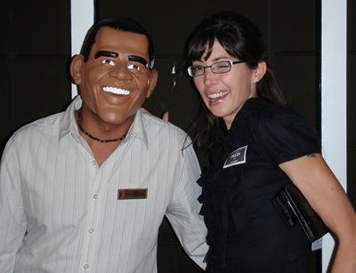 Obama e Palin também resolveram fazer uma visitinha à nossa festa.
