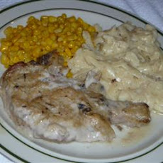 Pork Chops with Mushroom Onion Gravy