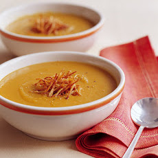Spiced Red Lentil Soup with Crispy Fried Ginger