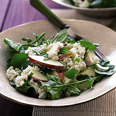 Creamy Barley Salad with Apples
