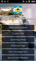 Screenshot of Argentina Travel Guide