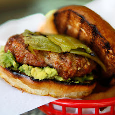 Pork and Chorizo Chile Burger