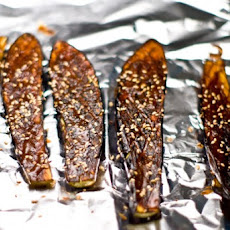Nasu Dengaku (grilled Eggplant With Sweet Miso Sauce)