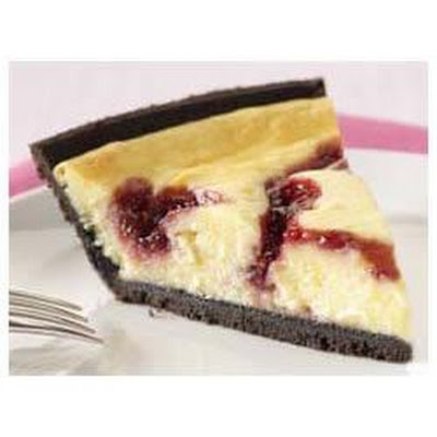 PHILADELPHIA® 3-STEP® White Chocolate Raspberry Swirl Cheesecake