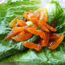 Lettuce With Apricot Salad and Honey-Raspberry Dressing