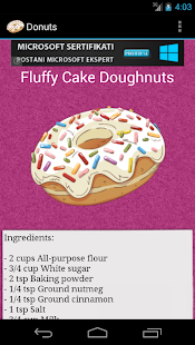 Donut Recipes - screenshot