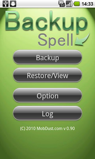 BackupSpell sms contact calls
