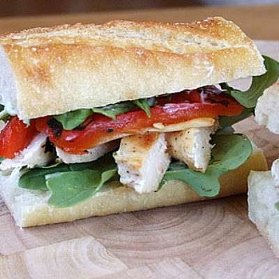 Chicken and Arugula Sandwiches