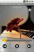 Screenshot of Top Popular 3D Piano Ringtones