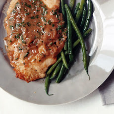 Turkey Cutlets in Anchovy-Butter Sauce