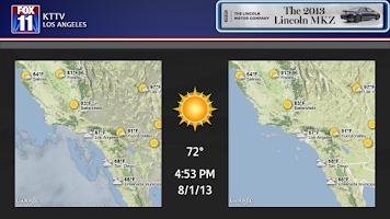 Screenshot of MY FOX LA News Google TV