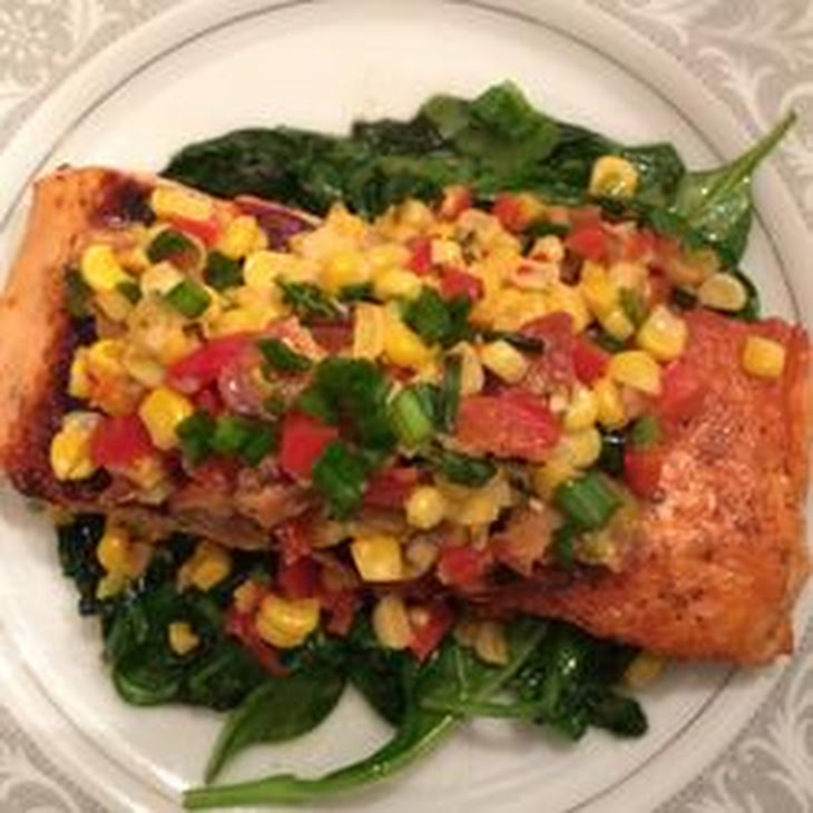 Grilled Salmon With Ginger And Green Onion Relish Recipe ...