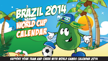 Screenshot of Brazil 2014 World Cup Calendar